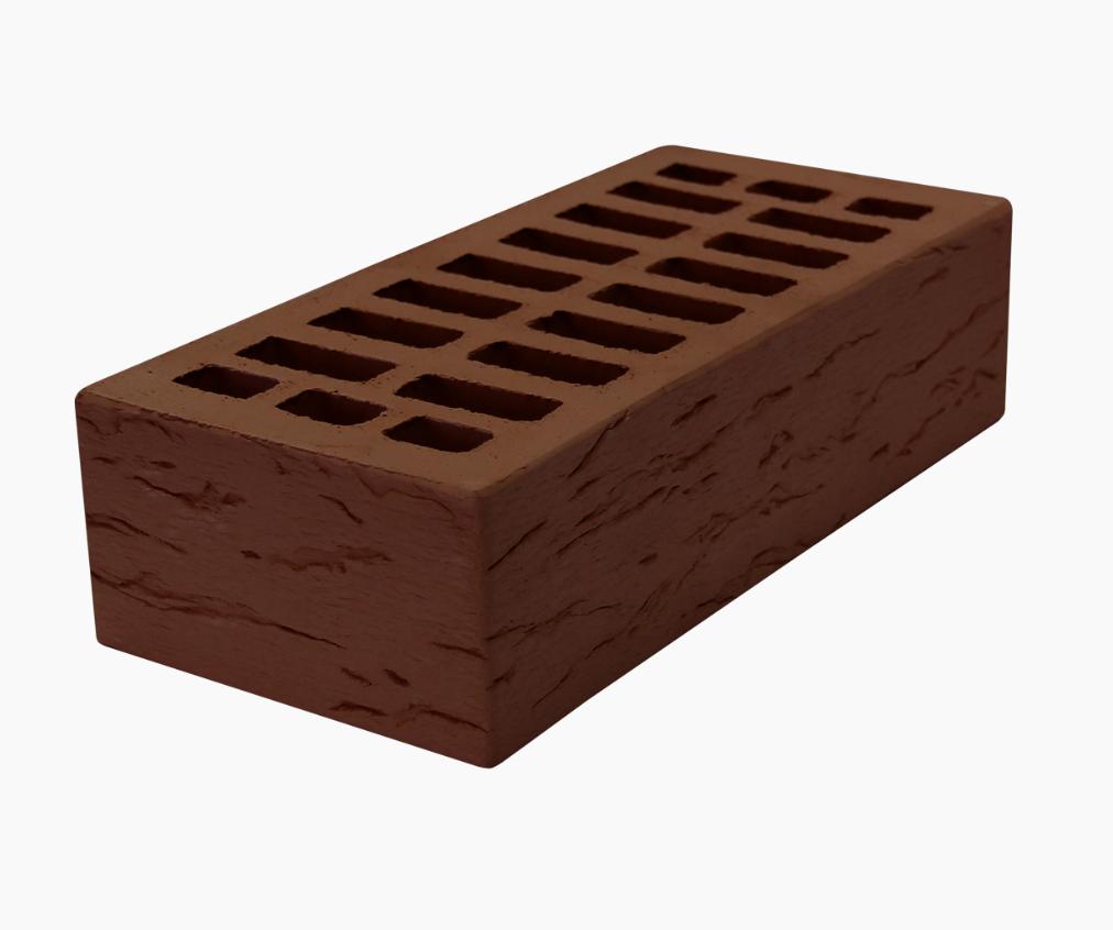 """Кирпич керамический одинарный лицевой """"коричневый"""" М150(Руст)"""