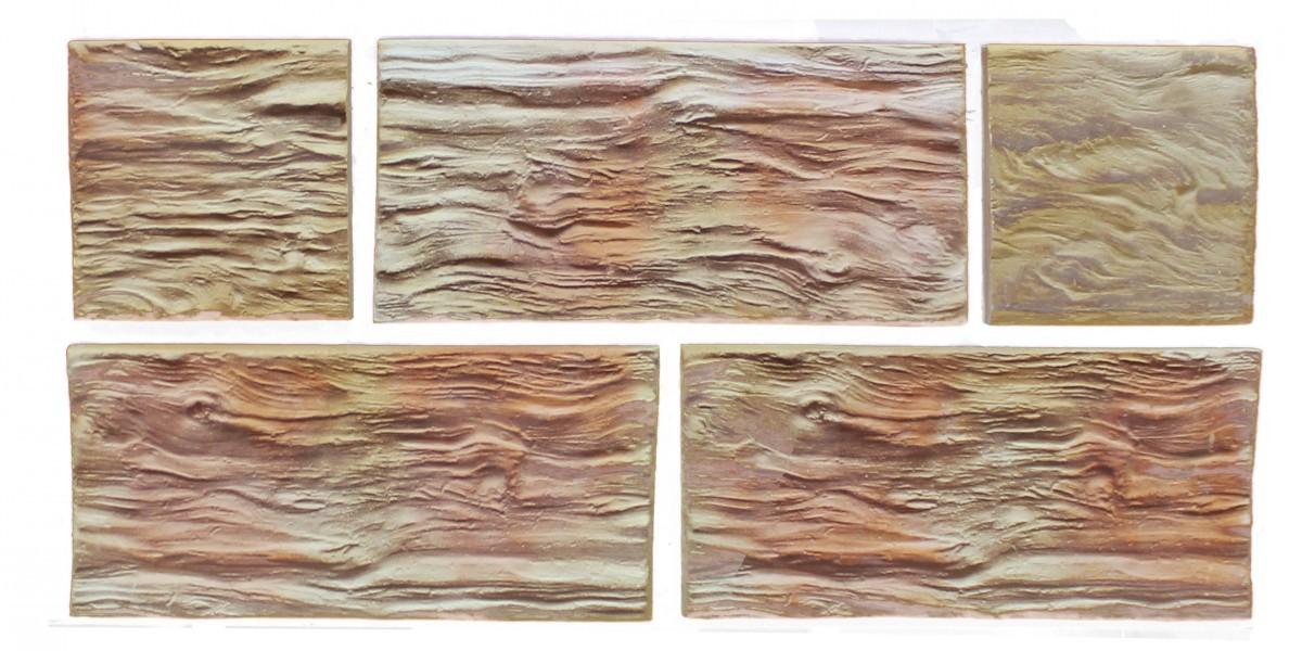 Терракотовая плитка Скол дерева (прямая, макси)