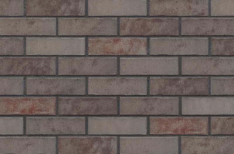 Кирпичная фасадная плитка Grey Satin (HF49)
