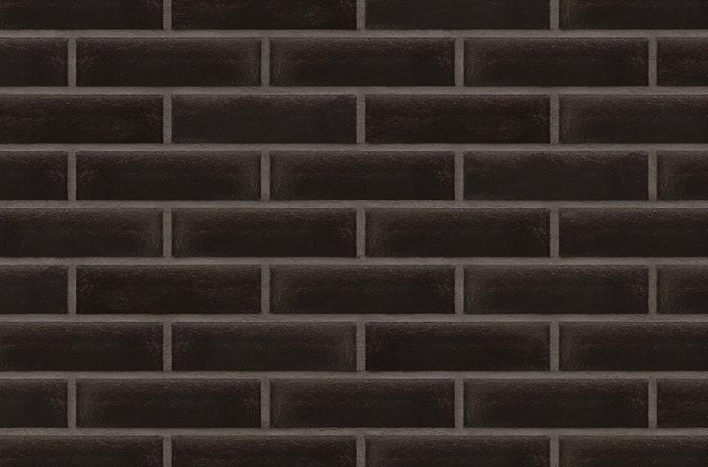 Кирпичная глазурованная клинкерная плитка для фасада Onyx black (17) Ониксовый черный