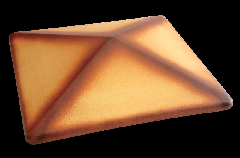Клинкерный колпак для забора Пустынная роза тон (11) Roza pustyni ton