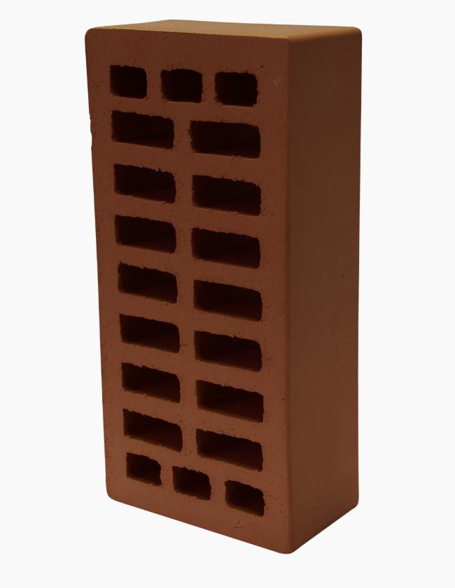 """Кирпич керамический одинарный лицевой """"коричневый"""" М150"""