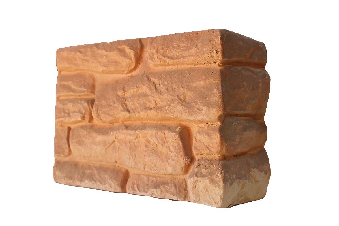 Терракотовая плитка Тайсон (угловая, мега)