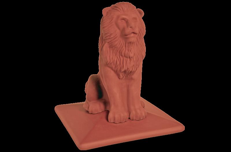 Клинкерный колпак для забора Royal LION со львом