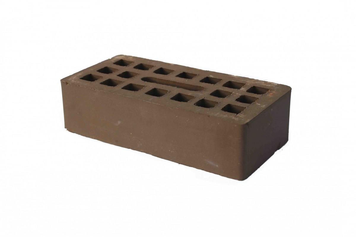 Кирпич керамический лицевой шоколад пустотелый, одинарный